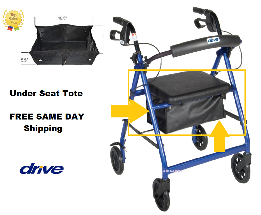 REPLACEMENT TOTE BAG ROLLATOR  DRIVE MEDICAL ~ SAME DAY FREE