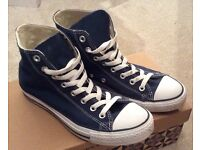 Navy Blue Converse High Tops - Worn once