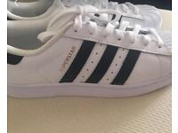 Black and White Adidas Superstars, Never been worn!