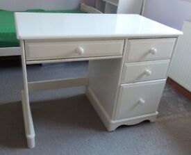 Table, Solid Pinewood Desk (Painted White) Dressing table, Computer desk, Study table