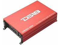 DS18 CANDY-4DR Full Range 4 Channel Class D Multichannel 1100 Watts Max Mini Amplifier (Red)