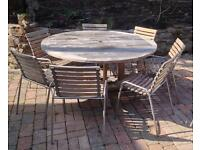 HIGH QUALITY SOLID TEAK TABLE AND CHAIRS