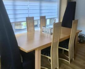 Ex Sterling Table and 6 Chairs