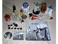 Star Wars Bundle Chewbacca & R2-D2 Torches R2-D2 Clock Figure Mini Stormtroopers