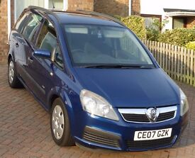 Vauxhall Zafira 1.6i Life 07 plate