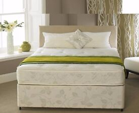 **100% GUARANTEED PRICE!**BRAND NEW-Double Bed/Small Double Divan Bed-With Economy Sprung Mattress