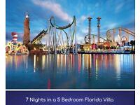 7 Nights in 5 Bedroom Florida Villa