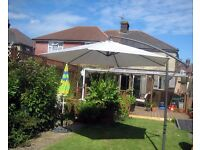 """Large Garden """"Banana"""" Umbrella"""