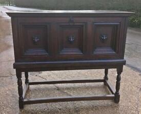 Antique large oak cabinet