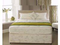 🔥💥Same Day Drop🔥💥 Brand New Double /King Divan Bed W/ Dual-Sided 10inch Full Orthopedic Mattress