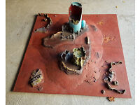 Warhammer 40,000 Realm of Battle Board (GW x 4 tiles) well painted with scenery