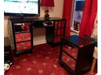 PRICE DROP! Beautiful 7 drawer mirrored dresser & 2 units