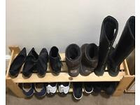 Sturdy wooden shoe rack/ storage