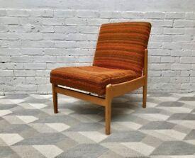 Vintage Retro Side Chair Orange #587
