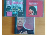 3 CDs, Luther Vandross The best of love, Gloria Gaynor The very best of and 60's Smash Hits