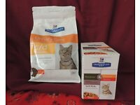 Cat food various for cats with urinary problems