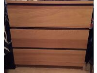 Malm Ikea chest of drawers