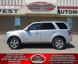 2008 Ford Escape Limited V6 4x4, Black Leather, Sunroof, Loaded,