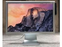 "APPLE CINEMA DISPLAY 20"" - Aluminium - FULLY WORKING - NO PSU - SCRATCHED SCREEN - HENCE £20 !!!"
