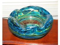 (#412) stunning mdina glass heavy bowl ornament (Pick up only, Dy4 area)