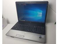 "HP G70, 17"", Core 2 Duo T5800, 3GB RAM, 160GB HDD, GeForce 9200M, Win 10 Pro"