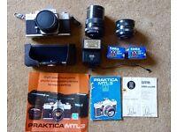 Vintage Praktica SLR Camera Kit