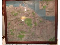 Framed map of the City of Edinburgh