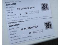 2 tickets/'Defrosted'/A Big Bonkers Blast of Fun/age 3+/£6.50 each/Canterbury Festival/Sat29Oct 1pm.