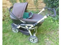 Jane Pram /Pushchair / Stroller with Carrycot (also Group 0 car seat)