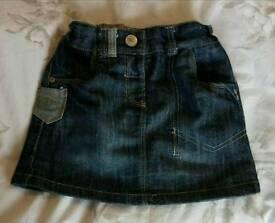 Girl's NEXT Denim Skirt (age 2-3)