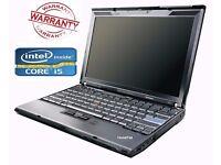 WINDOWS 10 LENOVO X201 Laptop FAST Core i5 Warranty Wireless