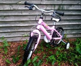 GIRLS BIKE RIDGEBACK HONEY 14 INCH WHEELS