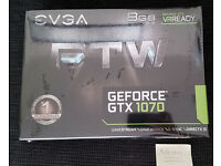EVGA Nvidia GTX 1070 8GB FTW ACX Cooling 3.0 Graphics Card - NEW