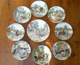 Set of 9 Wedgwood Decorative plates: Life on the Farm