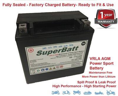 SUPERBATT YTX14 BS UPGRADE BATTERY TRIUMPH TIGER 955I 01  03
