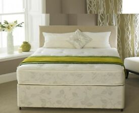 **EXCLUSIVE**Double SIZE 4FT6INCH SMALL DOUBLE 4FT SEMI ORTHOPAEDIC DIVAN BED AND MATTRESS