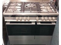Fisher & paykel 90 cm wide dual fuel cooker