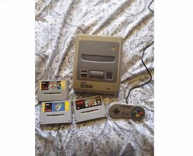 Super Nintendo with 3 games!