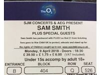 2 x Sam smith tickets at London o2