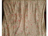 summer CURTAINS 132cm drop, pale greenish-yellow
