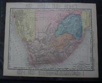 Antique 1886 Map of South Africa Pre-Boer War -126 years old!