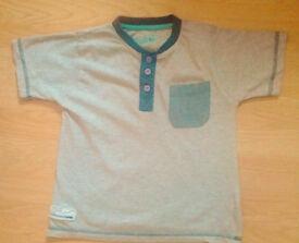 Boy's Rebel Grey Marl & Denim Short Sleeve T-Shirt(Age 4-5 Years).