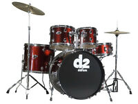 DRUMS: USED DDrum D2 5-piece Drum Set , Shell Kit. / Red Mettalic.