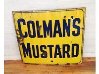 Wanted old advertising shop sign metal antique vintage motor enamel