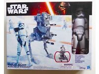 "STAR WARS HASBRO THE FORCE AWAKENS HERO SERIES 12"" INCH WALKER & FIRST ORDER STORMTROOPER FIGURE £20"