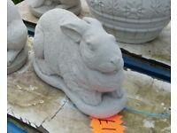 Concrete rabbits Garden ornaments