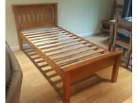 Solid pine 3ft single bed frame