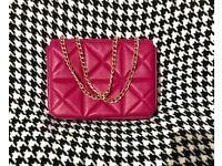 Zara (TRF) small leather crossbody bag with chain