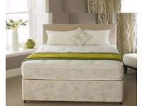 BLACK OR WHITE - Brand new Double Divan Base With memory foam Orthopedic Mattress -