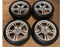 18'' GENUINE BMW 3 SERIES M SPORT 4 F30 F32 F33 F36 400 ALLOY WHEELS TYRES ALLOYS 5X120